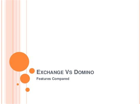lotus notes vs exchange compare exchange and lotus notes domino features