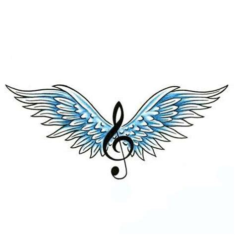 treble clef and wings tattoo design tattoowoo com