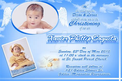 design layout of baptismal invitation baptismal invitation by lesters attraction on deviantart