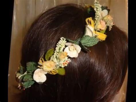 corona de flores novias  comunion youtube