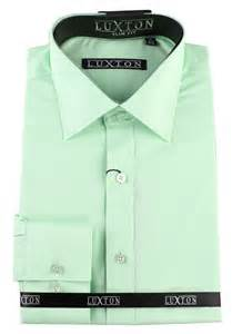 Details about luxton men s modern slim fit button down dress shirt