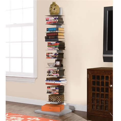 the vertical bookshelf hammacher schlemmer