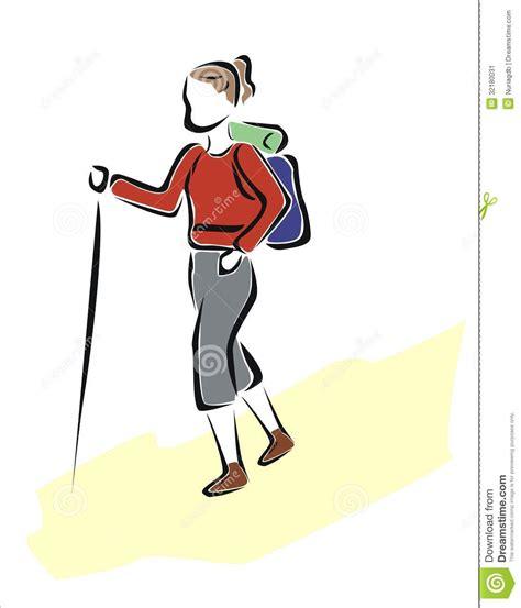 Plan 2d hiking stock image image 32180031