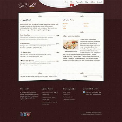 Design Menu In Joomla | te contei joomla 1 6 restaurant template by demente