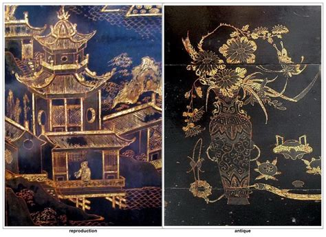 red or black lacquer gilt red or black lacquer gilt paintings determining the old