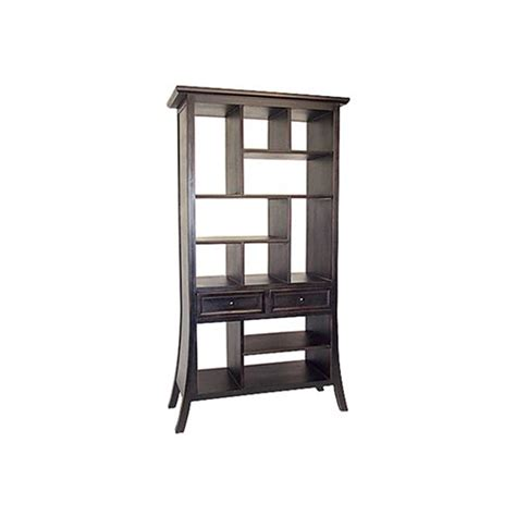 Shop Oriental Furniture Decorative Storage Dark Mahogany Decorative Bookshelves