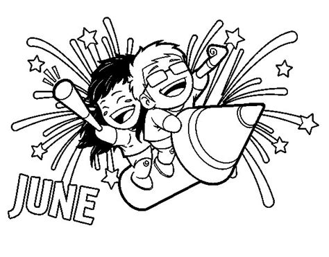 june color month of june coloring pages coloring pages