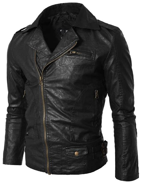 Handmade Leather Jacket - handmade custom new simple brando style leather jacket