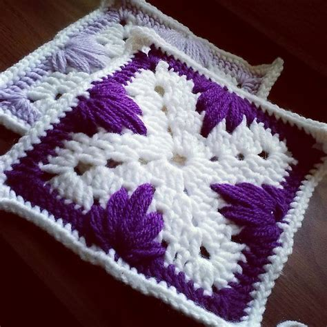 leaf pattern square leaf stitch granny square pattern by jyneffer dill
