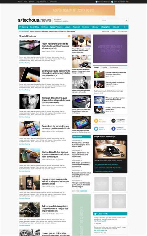 wordpress layout blocks technology wordpress theme techmag wordpress themes