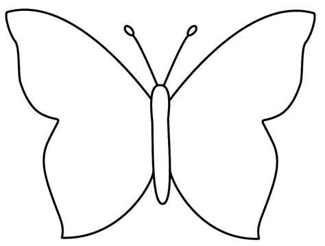 Butterfly Outline Printable by Basic Butterfly Template Cake Ideas And Designs Cliparts Co