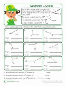 Third grade geometry worksheets basic geometry anatomy of an angle