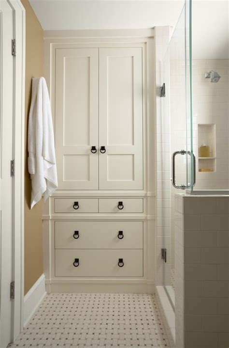 built in bathroom linen cabinets built in linen closet plans