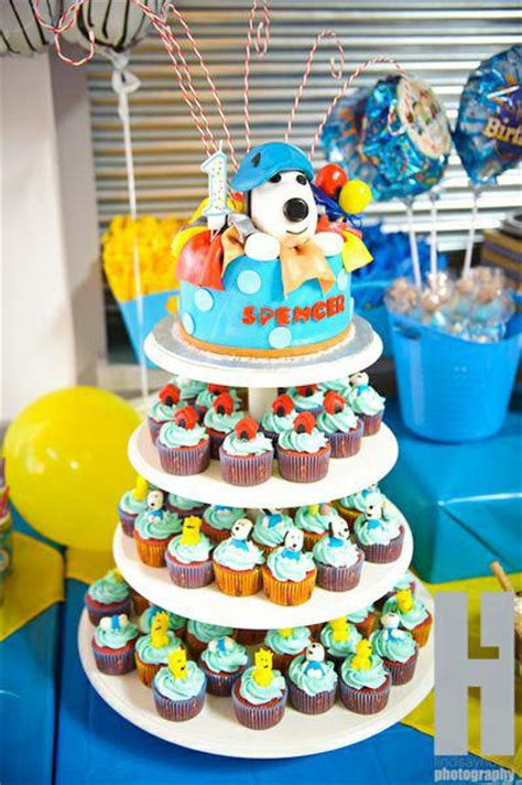 Snoopy Birthday Decorations kara s ideas snoopy brown boy