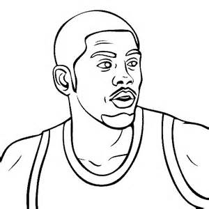 kyrie irving coloring page sketch template