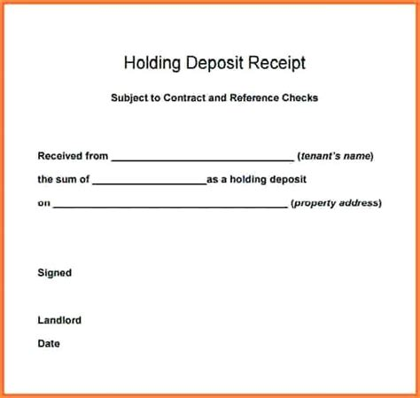 Receipt For Non Refundable Deposit Template by Non Refundable Deposit Receipt Kinoroom Club