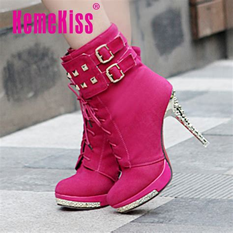 Autumn Winter S Boots Height Increased Low Heel Boots buy winter boots casual suede shoes flats