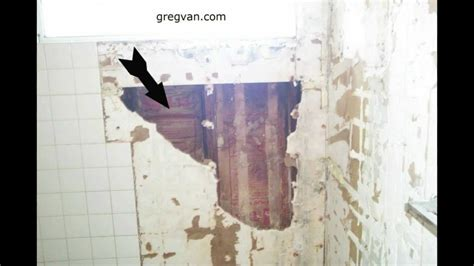 how to replace drywall in bathroom bathtub and shower wall damage green board drywall and