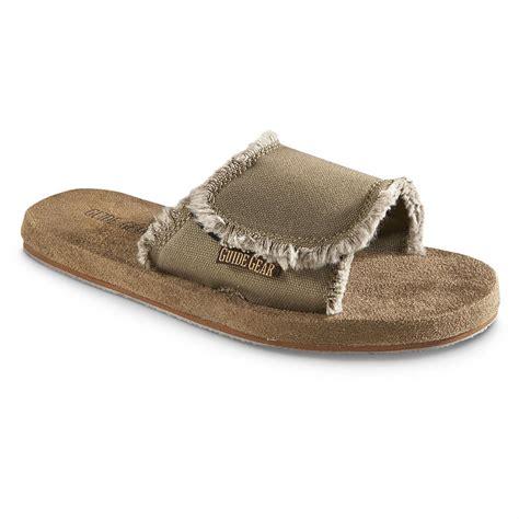 mens memory foam sandals guide gear s memory foam slide sandals 623628