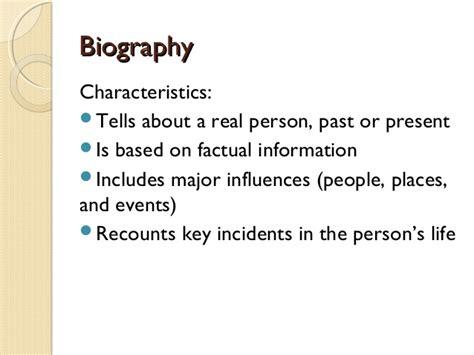 characteristics of biography biography