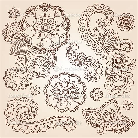 paisley tattoo design henna flowers henna mehndi doodles abstract floral