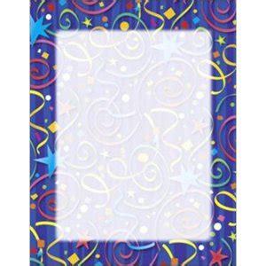 geographics 46901 star confetti design bond paper