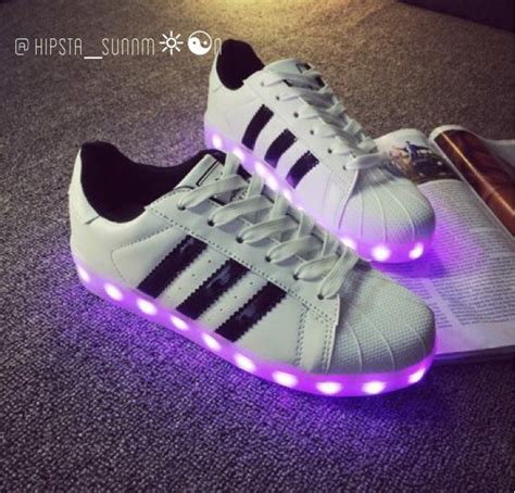 Adidas Light Up Shoes by Hipsta Sunnm N Adidas Superstar Light Up Shoes