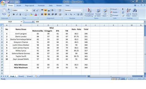 membuat tabel nilai di html jessilverqwinst cara membuat tabel nilai pada ms excel