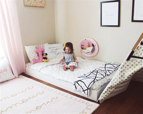 2 floor bed montessori floor bed toddler bed big kid room ideas