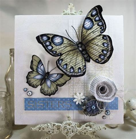 Syari Buterfly Blue 1000 images about mixed media on journal pages tim holtz and