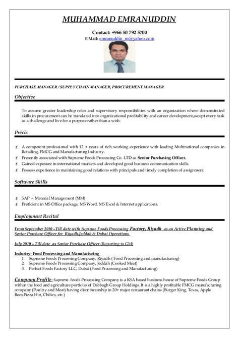sle resume purchase manager construction company purchasing manager cv word