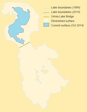 middle east map lake urmia the middle east runs out of water by daniel pipes