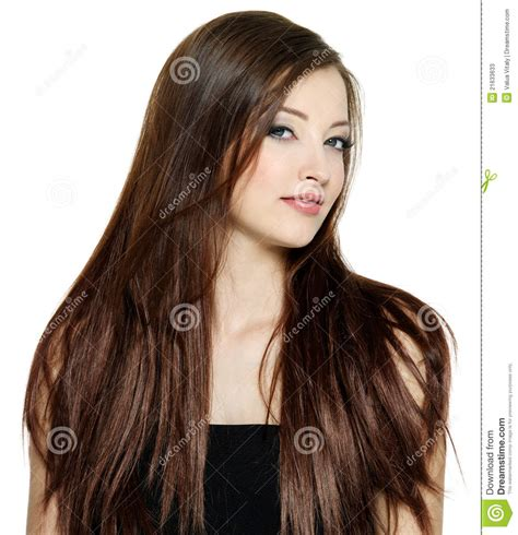 Long straight brown hair   Hairstyle for women & man