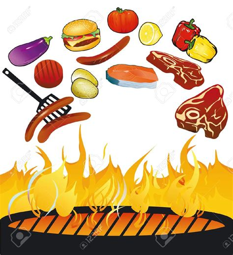 barbecue clipart free flames clipart bbq grill pencil and in color flames