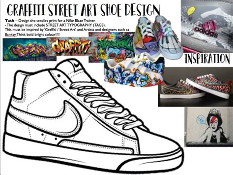 graffiti street art shoe design worksheet teaching