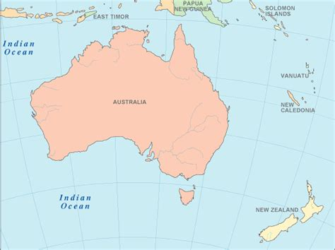 map of australia oceans oceans around australia map