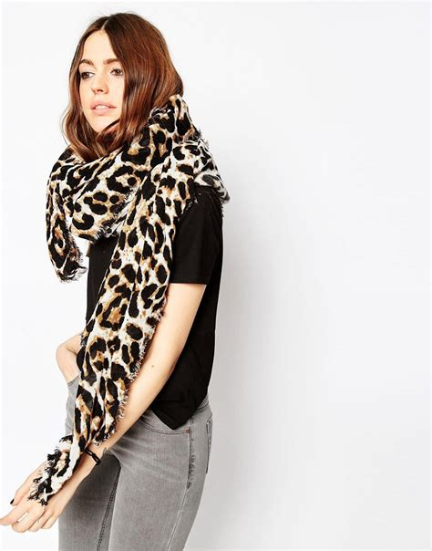 Trend Alert Leopard Print Scarves by Asos Asos Oversized Lightweight Scarf In Leopard Print