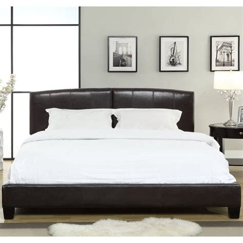 arch platform bed modus furniture upholstered arch platform bed in chocolate