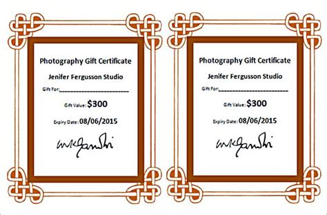 photography gift certificate template free the advantages of offering photography gift certificate