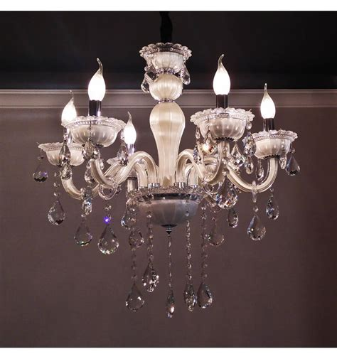 lustres en cristal lustre pilles cristal blanc 6 bras baroque roma