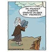 Teddy Tietz Cartoons Moses Nimmt Die 10 Gebote Entgegen