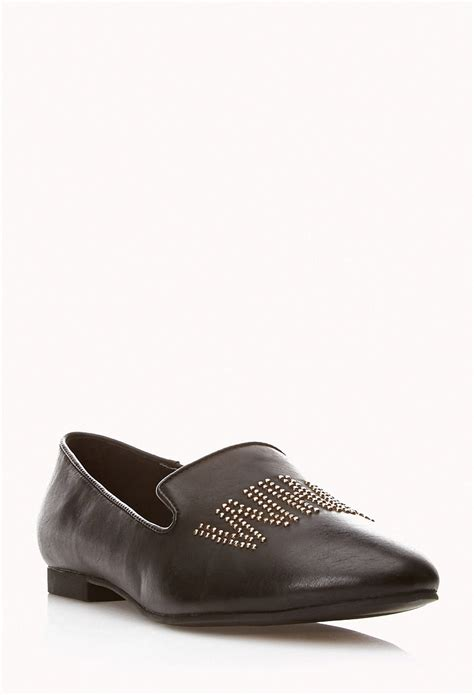 stud loafers forever 21 whatever stud loafers in black lyst