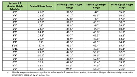 Know Your Seated Elbow Height Ergoprise Blog Standing Desk Ideal Height