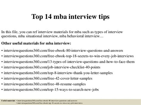 What Questions To Ask Your Mba Interviewer by Top 14 Mba Tips