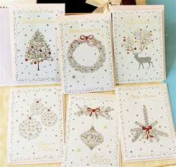 gold stamp christmas cards glitter greeting hollow