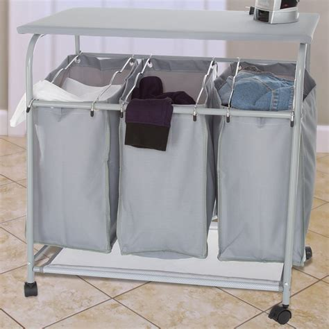 Center Rolling Laundry Sorter Sierra Laundry The Rolling Laundry