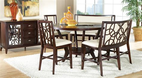 rooms to go dining room sets cindy crawford home highland park ebony 4 pc counter