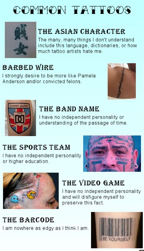 tattoos what your bad decision says about you