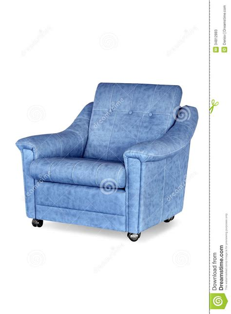 blue leather armchair blue leather armchair stock photos image 34812883