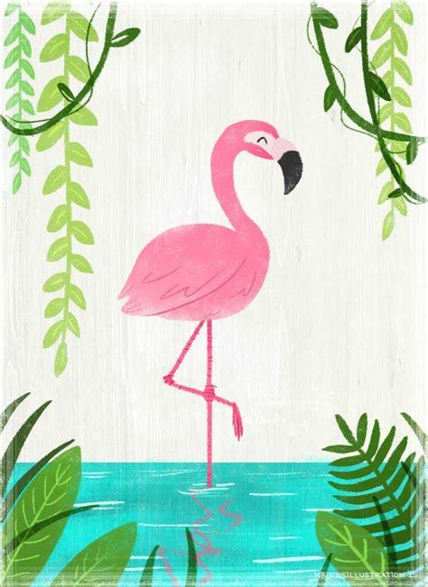 flamingo wallpaper etsy flamingo illustration print by artbyheatherburns on etsy